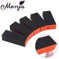 Monja 5 шт./компл. черный УФ-гель для ногтей, полировка, пилка, блок, наждачный маникюр, инструменты