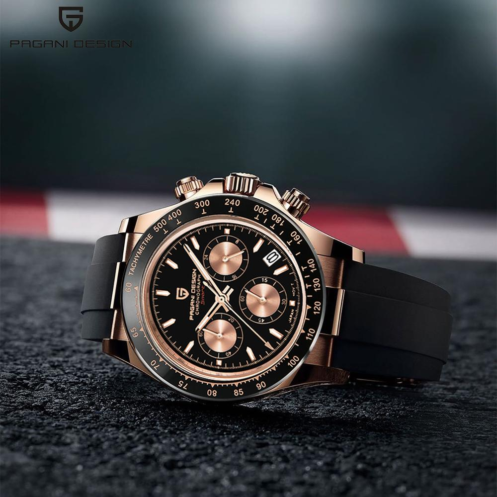 PAGANI DESIGN 2020 mens watches Top brand Luxury quartz multifunction sports watch for men automatic chronograph waterproof 100M