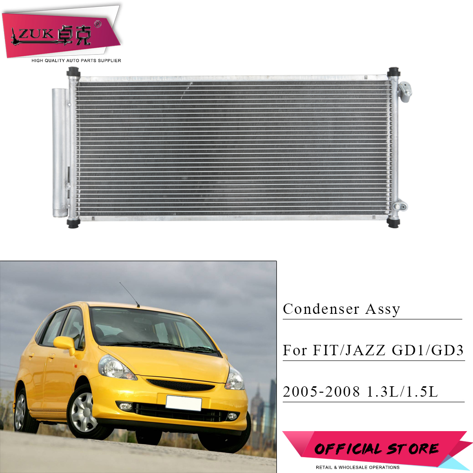 ZUK AC Air Conditioner Condenser Assy Replacement For HONDA FIT JAZZ GD1 GD3 1.3L 1.5L 2005 2006 2007 2008 OE# 80110 SAA 013|Condensers & Evaporators| |  - title=