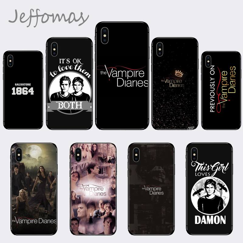 The Vampire Diaries Stefan Damon Salvatore Phone Case for iPhone 11 12 pro XS MAX 8 7 6 6S Plus X 5S SE 2020 XR