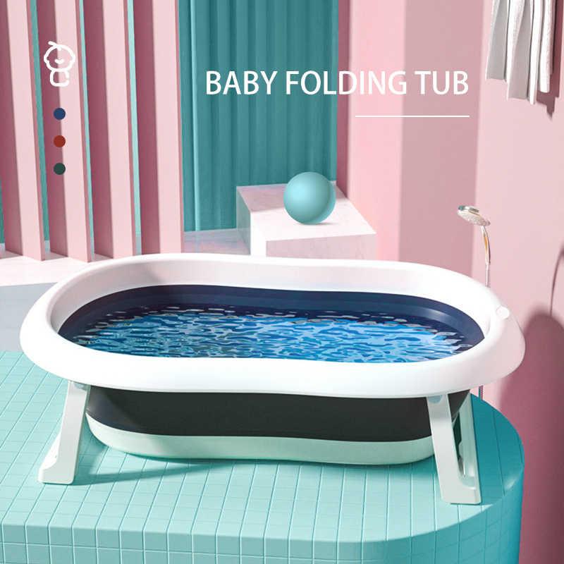 Bebek küveti katlanır taşınabilir plastik büyük küvet banyo havuzu banyo yıkama duş çocuk hediye
