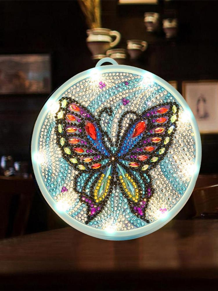 DIY Diamond Painting Small Night Light Butterfly Elephant Diamond Crystal Painting Lamp For Home Bedroom Decoration