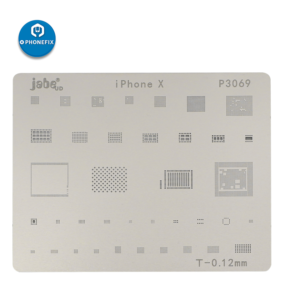 PHONEFIX Mobile Phone CPU NAND Flash BGA Reballing Stencils Template For IPhone X 8 8P 7P 7 6SP 6S 6P 6 Plant Tin Plate