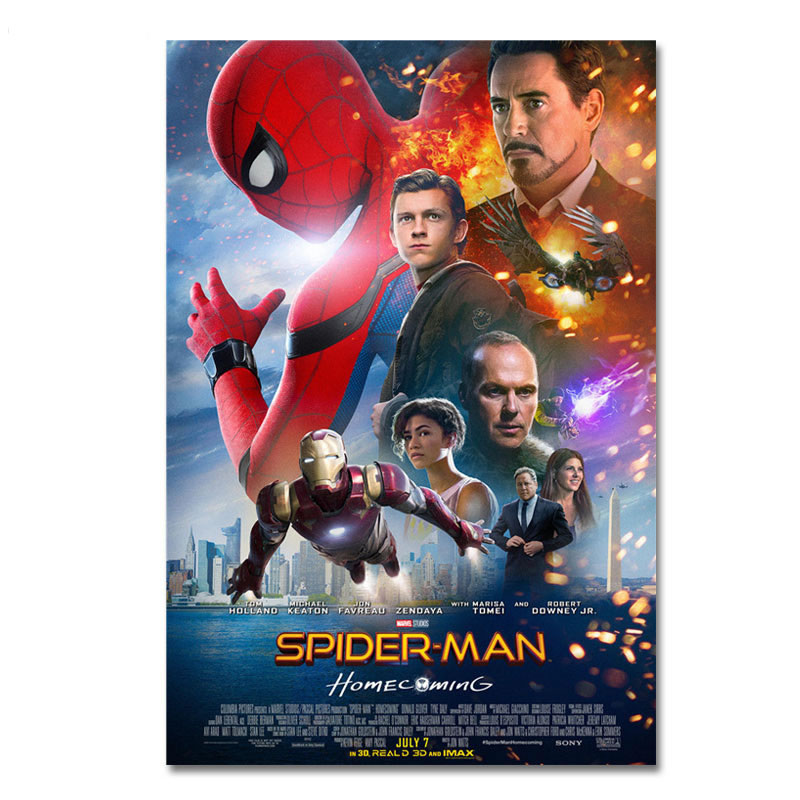 Spiderman Silk Poster Spider Man Homecoming Movie Posters Prints Cool Film Heroes Peter Parker Pictures Wall Art No Frame image
