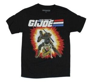 G.I. Joe Mens T-Shirt - Snake Eyes Classic Figure Art GI Joe [Apparel] Cartoon t shirt men Unisex New Fashion tshirt(China)