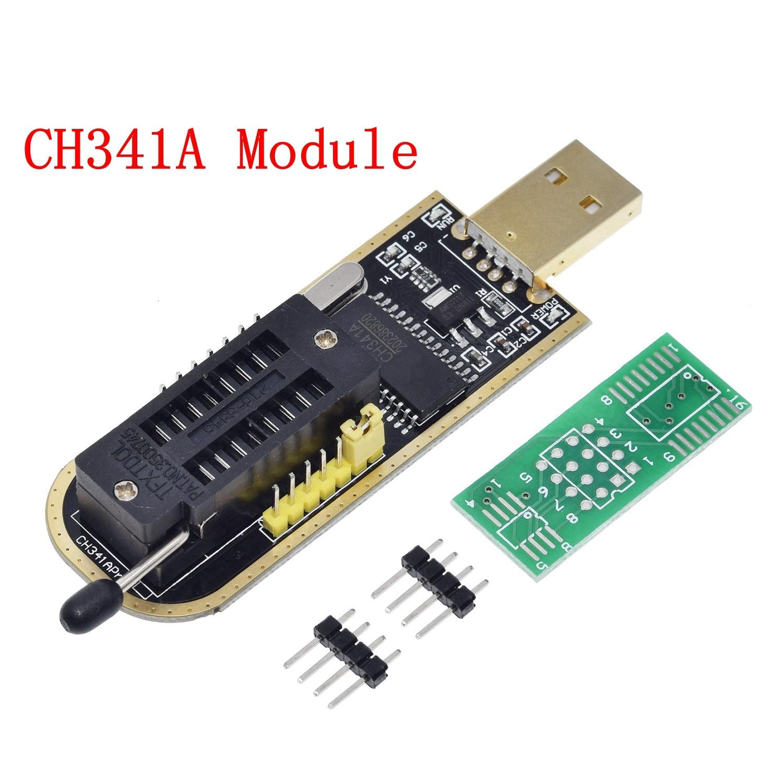 TZT CH341A 24 25 Series EEPROM Flash BIOS USB Programmer Module + SOIC8 SOP8 Test Clip For EEPROM 93CXX / 25CXX / 24CXX 3