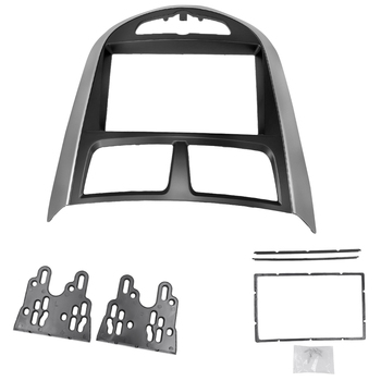Adapter Frame 2 din For Hyundai i-25 For Accent Solaris Verna Car Radio Fascia Stereo Audio Radio DVD GPS Plate Panel Frame Kit image