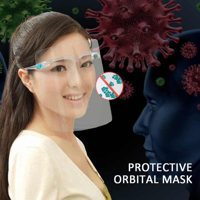 Clear Full Face Guard Mask Shield Anti-dust Saliva Protective Mask Goggle Faces Mask Shields Safety Work Eye Protection Glasses 1
