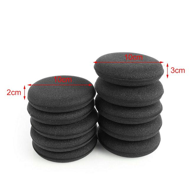 12pcs Black Car Waxing Polish Foam Sponge Wax Applicator Cleaning Detailing Pads Kit Washing Tool Car Care 4