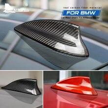 De fibra de carbono alerón con forma de aleta de tiburón para cubierta BMW E90 E92 E46 E36 E60 E70 F20 F30 F10 F22 F31 F15 F21 G30 G20 G01 G05 G07 Accesorios