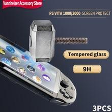 3 pçs 9h vidro temperado claro protetor de tela capa protetor de película protetora para sony playstation psvita ps vita psv 1000 2000 magro