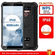 OUKITEL WP5 IP68 Waterproof Android 9.0 Phones 5.5''HD+ 18:9 Quad Core 4GB 32GB