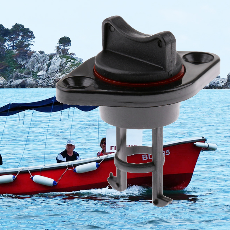 25mm 1'' Nylon Marine Yacht Drain Plug Bung Socket With Captive Plug For Dinghy Kayak Canoes Boats Stop Water Infiltration