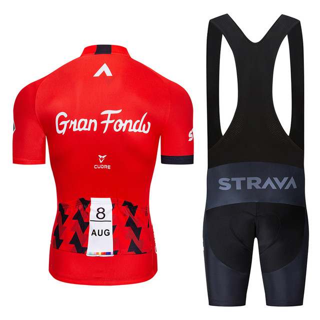2019 new red STRAVA Pro Bicycle Team Short Sleeve Maillot Ciclismo Men s Cycling Jersey Summer