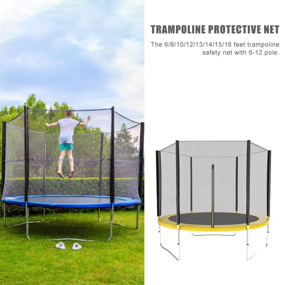Haute qualité saut Trampoline filet de protection maison enfants intérieur extérieur adulte Trampoline sécurité protection PE Net pépinière - 5