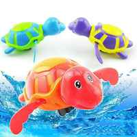 Bathing Bath Toy Wind-up Floating Turtle Clockwork on a Chain Bathing Toy Newborn Lovely Animals Water Toys for kids dropship
