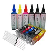 6x100 мл контейнер с чернилами PGI-450 CLI-451 комплекты для заправки чернил совместим с Canon PIXMA MG6340 MG7140 iP8740 MG7540 принтер 6 цветов