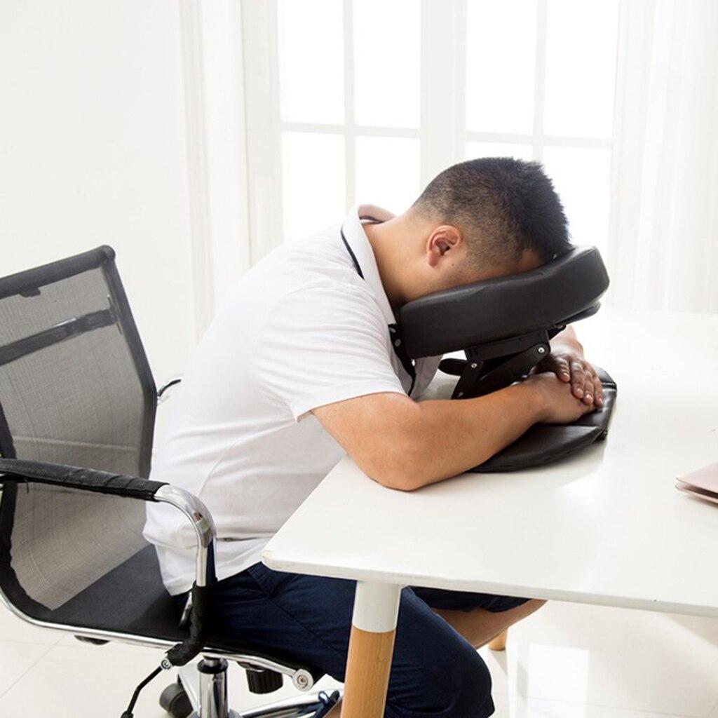 Mousse SPA Massage Table oreiller U forme traversin Face vers le bas berceau sieste coussin de couchage pour bureau école voyage Salon - 4