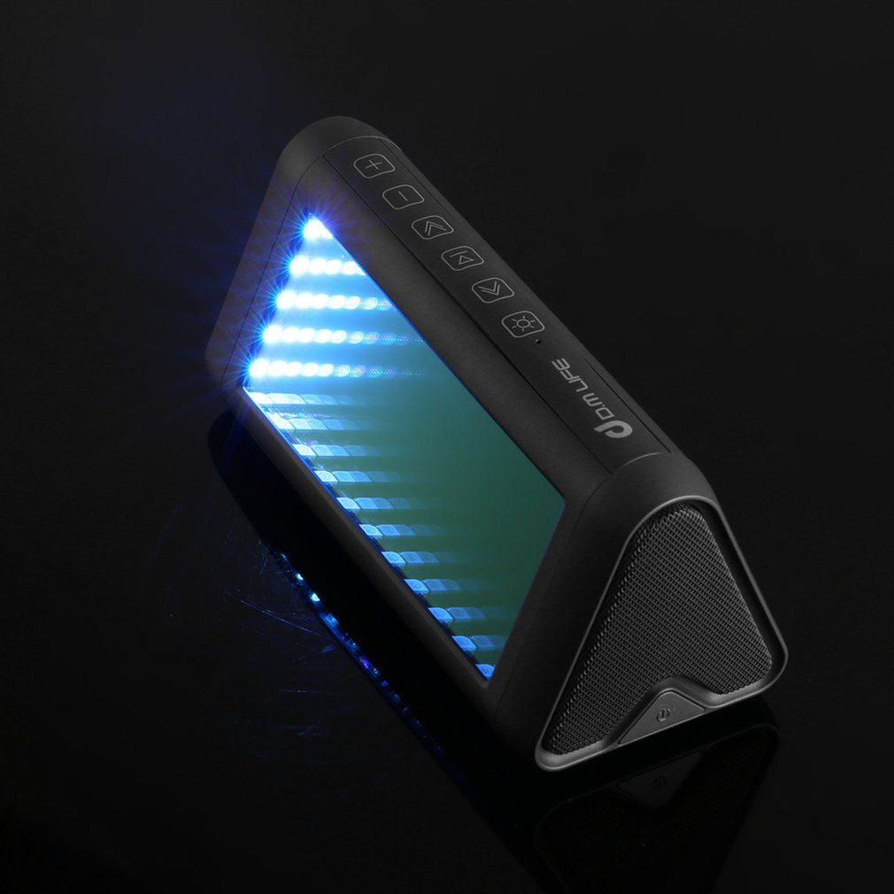 Draagbare Magische Spiegel Speaker Virtual 3D LED Licht e Stereo bluetooth Speaker Bass Vervorming Gratis - 4