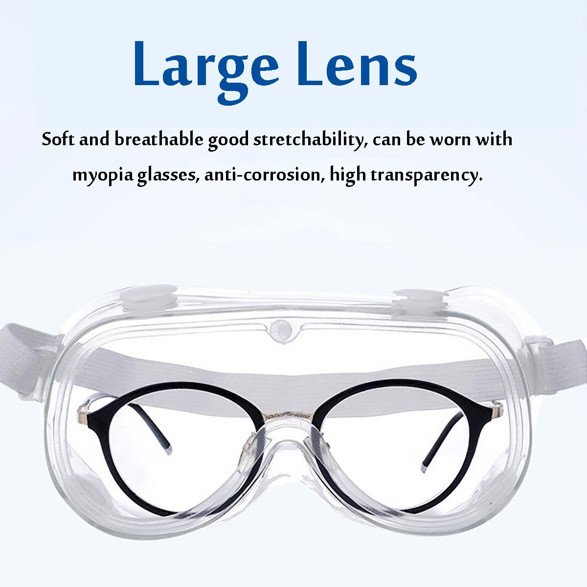 Protective Medical Goggles With Fully Enclosed Transparent Lens For Hospital And Lab Use