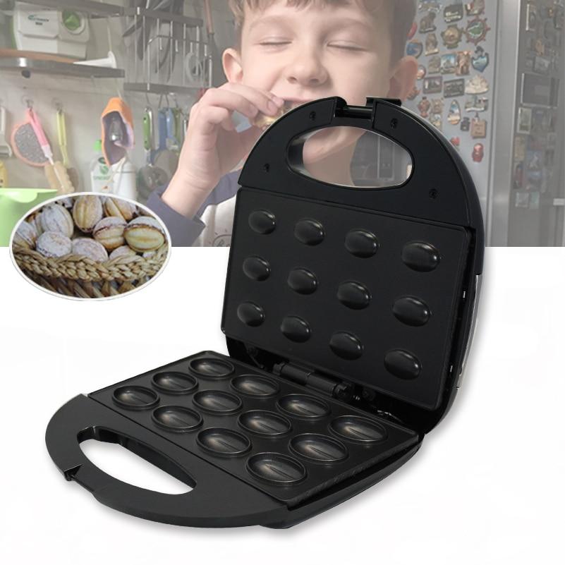 Electric Walnut Cake Maker 2019 Automatic Mini Nut Waffle Bread Machine Sandwich Iron Toaster Baking Breakfast Pan Oven EU plug
