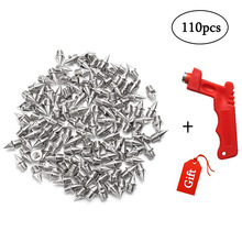 110pcs 6mm Stainless Steel Track and Cross Country Spikes with Spike Wrench Replacement Spike Sprint Sports Short Running Shoes