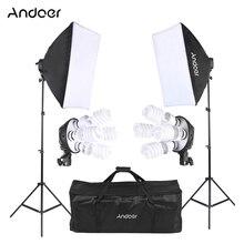 Andoer stüdyo fotoğraf aydınlatma kiti fotoğraf aydınlatma kiti stüdyo ışığı standı Softbox fotoğraf stüdyo ışığı fotoğrafçılık için