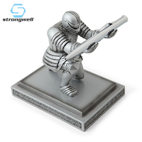 Strongwell Executive Officer Knight Pen Holder Armor Hero Penholder Stationery Home Decoration Accessories Home Decor Gift