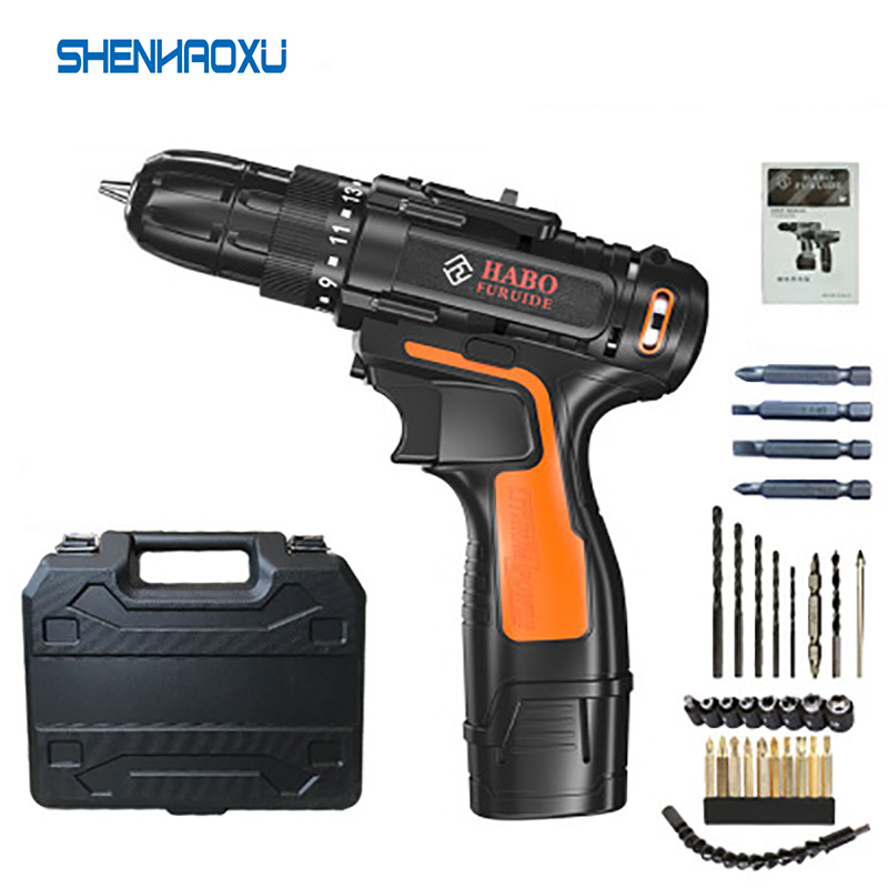 12V Electric Screwdriver Electric Drill cordless drill Cordless Screwdriver rechargeable Lithium Mini Drill Power Tools HOME DIY