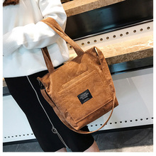 2019 Women Corduroy Zipper Shoulder Cross Body Bags Purse Ladies Handbag Tote Canvas Female Casual Crossbody Bag Ladies Vintage Messenger Bags Large Capacity Luxury Handbags Women Bags 3 sets handbag women composite bag female large capacity tote messenger bag fashion shoulder crossbody bag small purse card bags