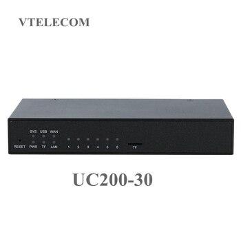 Asterisk мини IP PBX UC200-30 с 120 пользователей VOIP pbx системы