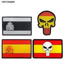 В настоящее время доступны поставки товаров, в настоящее время доступны флаг Испании ПВХ эпоксидной смолы украшения Каратель липучка этикетка сумка w