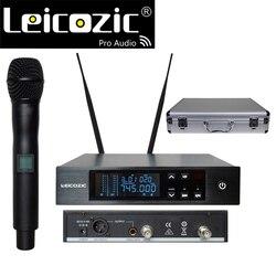 Leicozic True Diversity Wireless Microphone Systems UHF Digital Microfone handheld microfono wireless mic 740-776Mhz QLDX4 D4