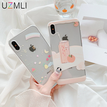 Korean Style Small Fresh Clear Soft Phone Case For