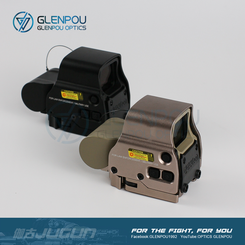 GLENPOU Tactical EXPS3 <font><b>558</b></font> 551 552 Holographic <font><b>Red</b></font> <font><b>Dot</b></font> Scope Magnifier Combo Rifle Scope with Flip Mount Airsoft&Hunting scope image