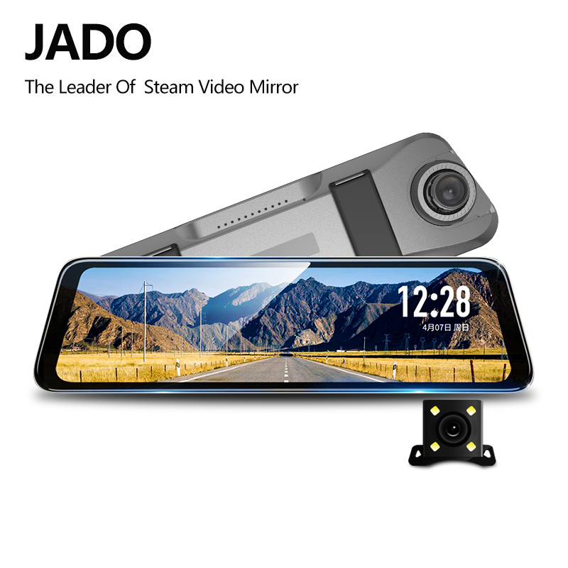 JADO D820s X2 Stream RearView Mirror Dvr dash Camera avtoregistrator 10 IPS Touch Screen Full HD 1080P Car Recorder dash cam(China)
