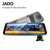 JADO D820s X2 flux rétroviseur Dvr caméra de tableau de bord avtoregistrateur 10 IPS écran tactile Full HD 1080 P voiture enregi