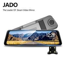 Jado d820s x2 스트림 백미러 dvr 대시 카메라 avtoregistrator 10 ips 터치 스크린 풀 hd 1080 p 자동차 레코더 대시 캠