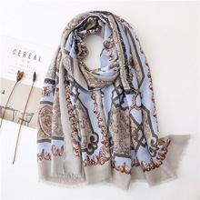 Women Newest Vintage Pattern Cotton Scarf 10pcs/lot