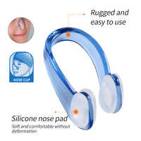 SFIT 1 pcs Swimming Nose Clip Ear Plugs Set Soft Silicone Swimmer Unisex Nose Clip Earbuds Set Small Size FOR Adult Children