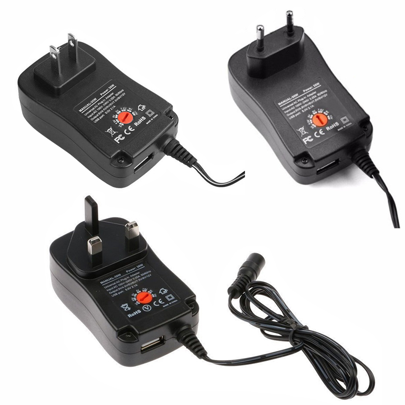 Universal <font><b>220V</b></font> Power <font><b>Adapter</b></font> 12V 3V 4.5V 5V <font><b>6V</b></font> 7.5V 9V 2A 2.5A for 30W Adjustable Power Supply <font><b>Adapter</b></font> Power Charger FN image