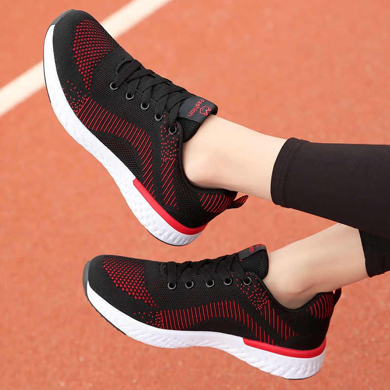 2020 Neue Mesh Turnschuhe Schuhe Frau Atmungsaktive Sommer Schuhe Frauen Casual Bequeme Schuhe Frau Turnschuhe Spitze-up Flache Schuhe