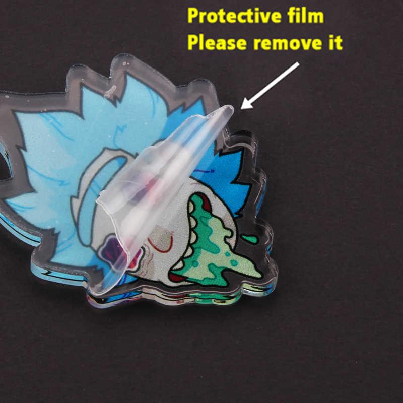 Rick Và Morty Chân Thiên Tài Nhà Khoa Học Điên Huy Hiệu Nút Thổ Cẩm Anime Người Yêu Áo Sơ Mi Denim Lapel Pin