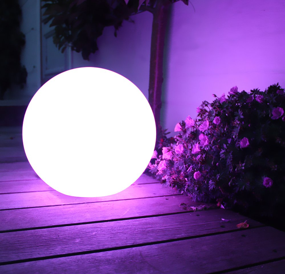 Remote Control LED Garden Ball Lights Lamps Outdoor Lawn Lamp Night Light Home Indoor Dining Room Decoration Christmas Lighting