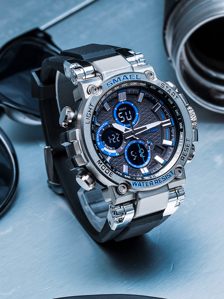 Relógio de Pulso Natação ao ar Militar do Exército 2020 à Prova Smael Esporte Digital Homem Dwaterproof Água 50 m Livre Relógio Relógios Masculinos 1803 Masculino