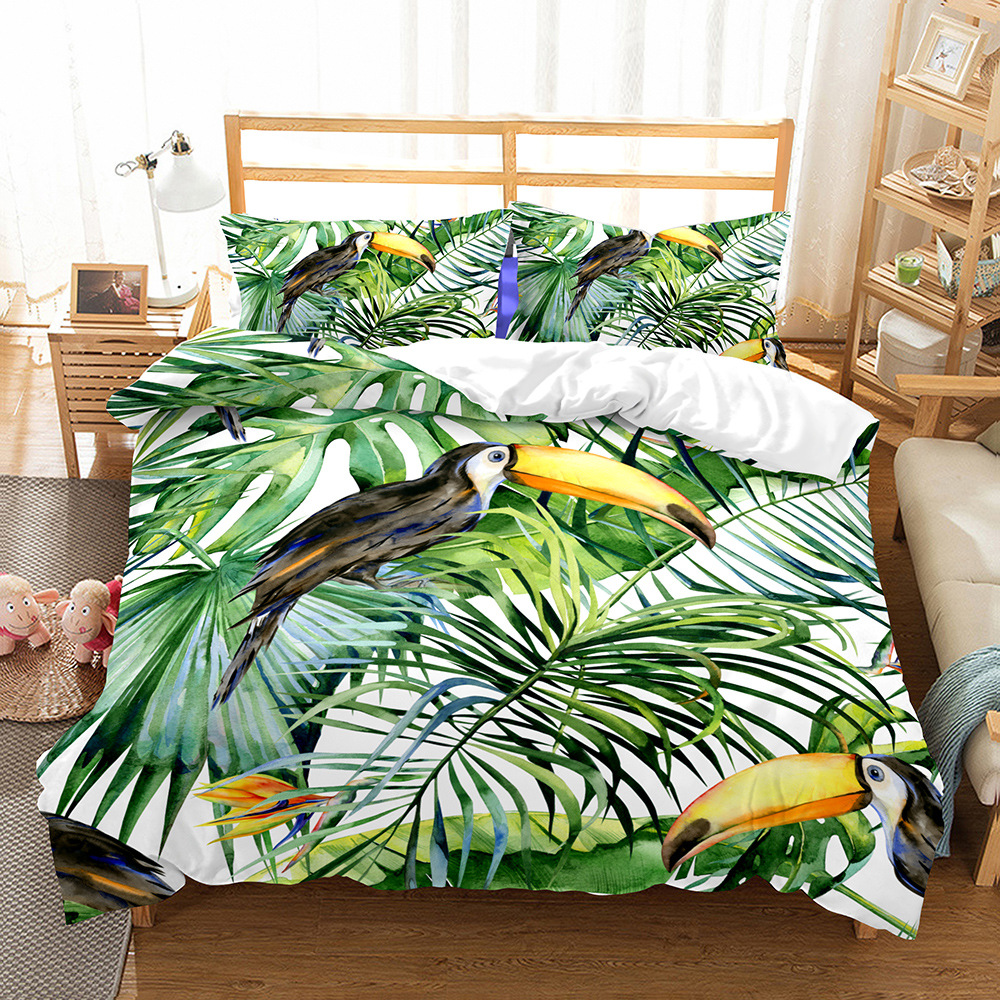 Forest Bird 3d Bedding Set Luxury Cactus Comforter Bedding Sets Watermelon Bed Set Duvet Cover Set Kids Bedding Queen Bed Linen