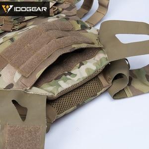Image 5 - IDOGEAR JPC التكتيكية سترة الادسنس درع للجسم البلوز لوحة الناقل الملونة الألوان العسكرية 500D النايلون دائم