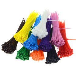 100PCS/Bag 3x100 Self-Locking Nylon Wire Cable Zip Ties Cable Ties Organiser Fasten Cable Width 2.5mm Length 100mm 2.5mm*100mm