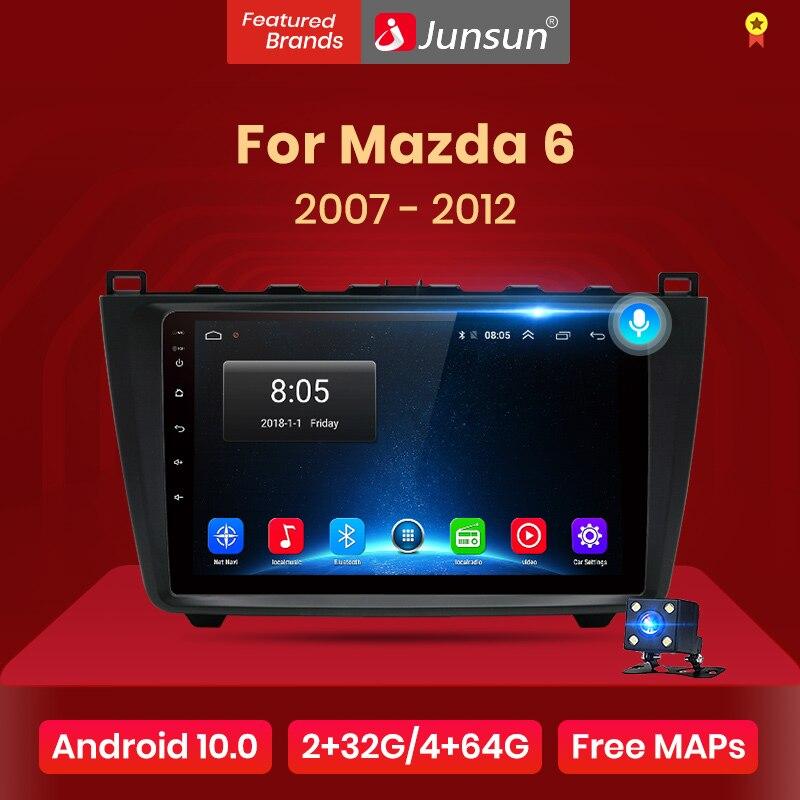 Junsun V1 2G + 32G Android 10 DSP autoradio multimédia lecteur vidéo pour Mazda 6 2007 2008 - 2012 Navigation GPS 2 din DVD RDS