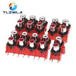 Conector de Audio y vídeo hembra, 2P, 4P, 6P, 8P, RCA, conector AV, AV2-8.4-13, piezas de PCB Rojas, novedad de 100 Uds.